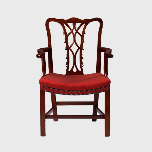 Classic Irish Chippendale elbow chair