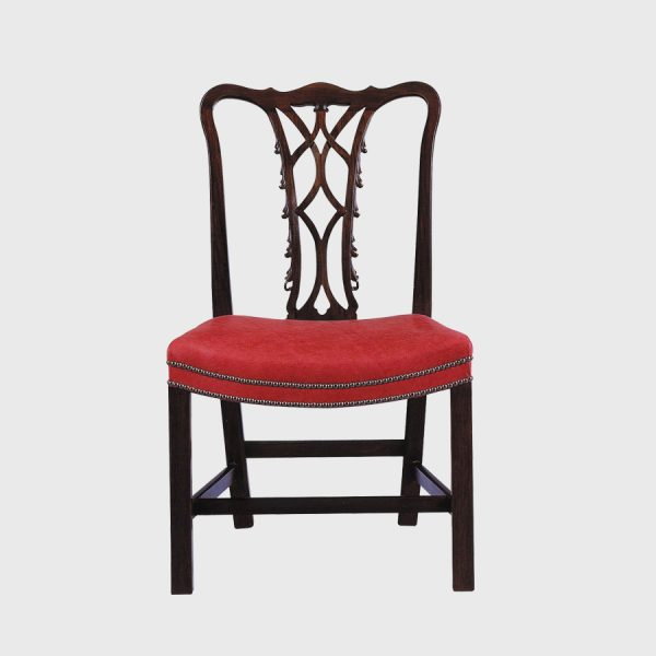 Classic Irish Chippendale Side ChairClassic Irish Chippendale side chair