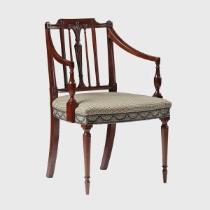 classic prince of wales feather elbow chair