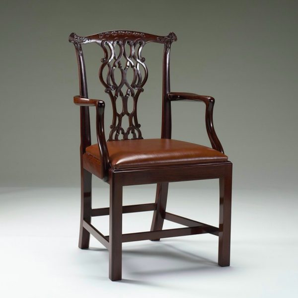 Classic Chippendale Elbow Chair CH-GA