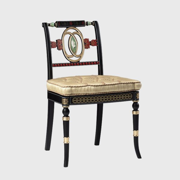 Classic Decorated Swan Side Chair
