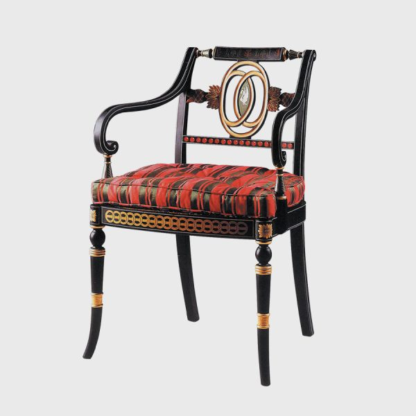 Classic Decorated Swan Elbow Chair