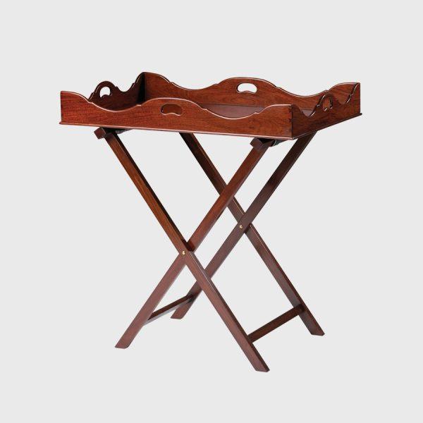 Georgian tray on folding stand