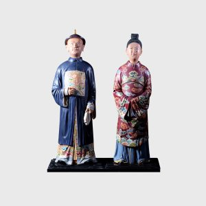 Pair of chinese nodding head figures