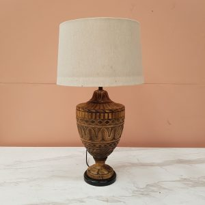Hand Carved wooden Lamp base