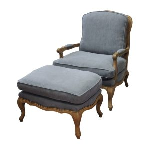 Chaise with matching stool CH157