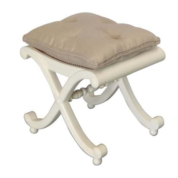 Carved scrolled dressing stool CH-071