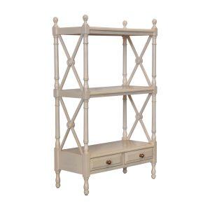 small open shelves