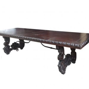 Carved trestle Dining Table TA 377
