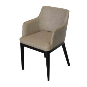 Zoe small elbow chair black