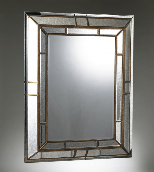 MATRIX gilt cushioned mirror